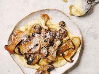 Soft polenta with mushroom ragu