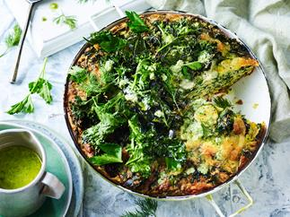Kale and quinoa frittata