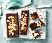 Sweet potato brownies with espresso topping
