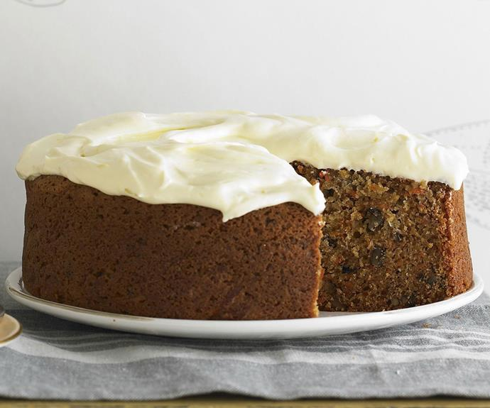 "**[Classic carrot cake with cream cheese frosting**](https://www.womensweeklyfood.com.au/recipes/carrot-cake-6605|target=""_blank"")**  This dense, moist carrot cake is full of nutty goodness and topped with a delicious lemon cream-cheese frosting."