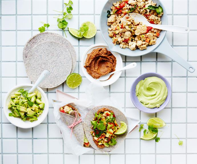 "**[Scrambled tofu wraps](https://www.womensweeklyfood.com.au/recipes/scrambled-tofu-recipe-30904|target=""_blank"")**  Deliciously flavoured scrambled tofu makes for a dreamy breakfast or lunch. Just load up a wrap with your favourite toppings and sauce for an unbeatable plant-based feast."