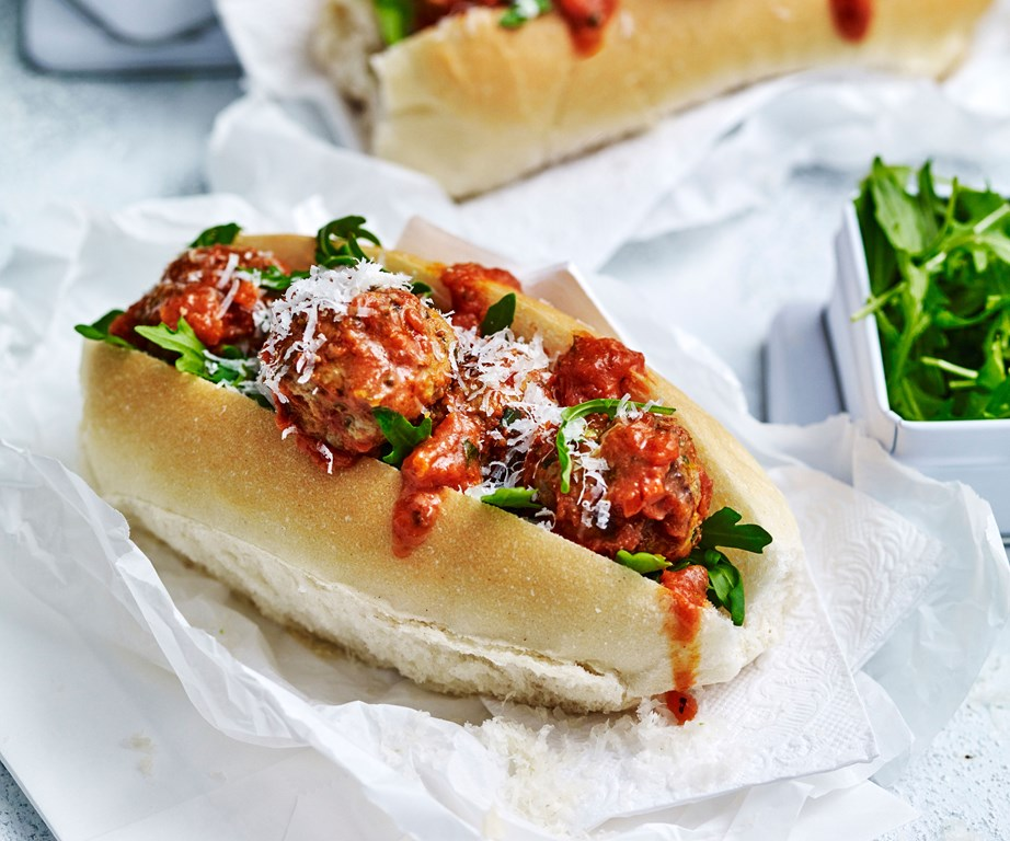 "**[Meatballs subs](https://www.womensweeklyfood.com.au/recipes/meatball-sub-recipe-30922|target=""_blank"")** is how you can have your favourite dish on the go."