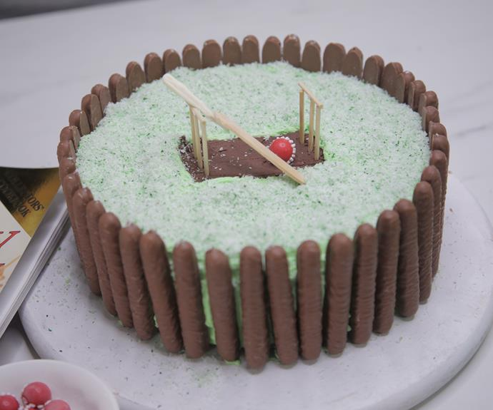 """**[Cricket pitch birthday cake](https://www.womensweeklyfood.com.au/recipes/cricket-cake-recipe-30928