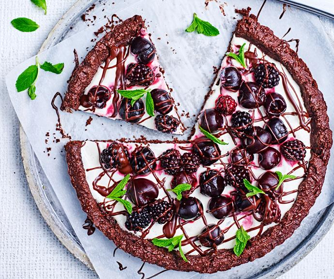 "**[Fruits of the forest cookie 'pizza'](https://www.womensweeklyfood.com.au/recipes/fruit-cookie-pizza-recipe-30974|target=""_blank"")**  See how to make the most of your seasonal fruits like these cherries and add them to your favourite dessert!"