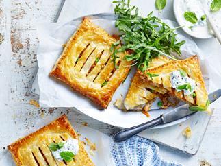 Butter chicken hand pies