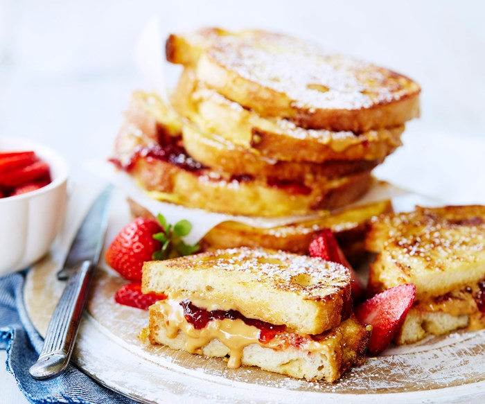 Peanut butter and jelly french toast recipe