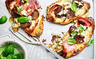 Pancetta & fig Sweet potato pizzas