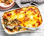 Low-carb turkey and kale lasagne