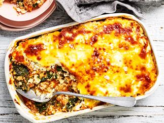 Turkey and kale lasagne recipe