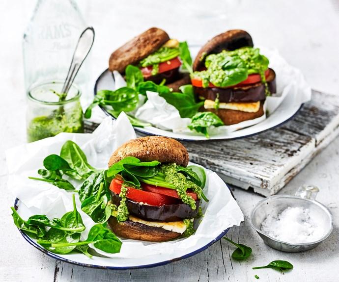 Low carb cheese mushroom burger recipe