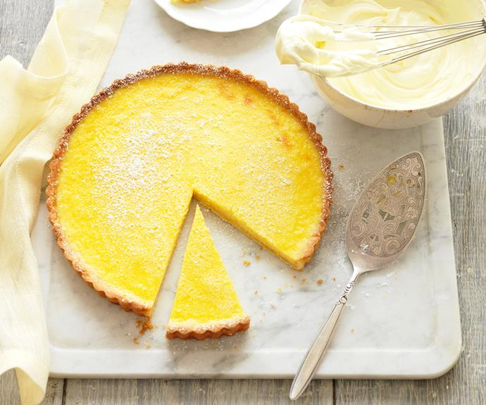 "A zesty lemon centre and an almond meal crust are the highlights of this [classic tart](https://www.womensweeklyfood.com.au/recipes/lemon-tart-15843|target=""_blank"") that uses the freshest ingredients to create an explosion of flavours."