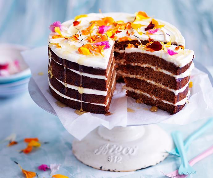 Chamomile honey cake