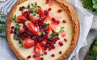 Baked labne cheesecake recipe
