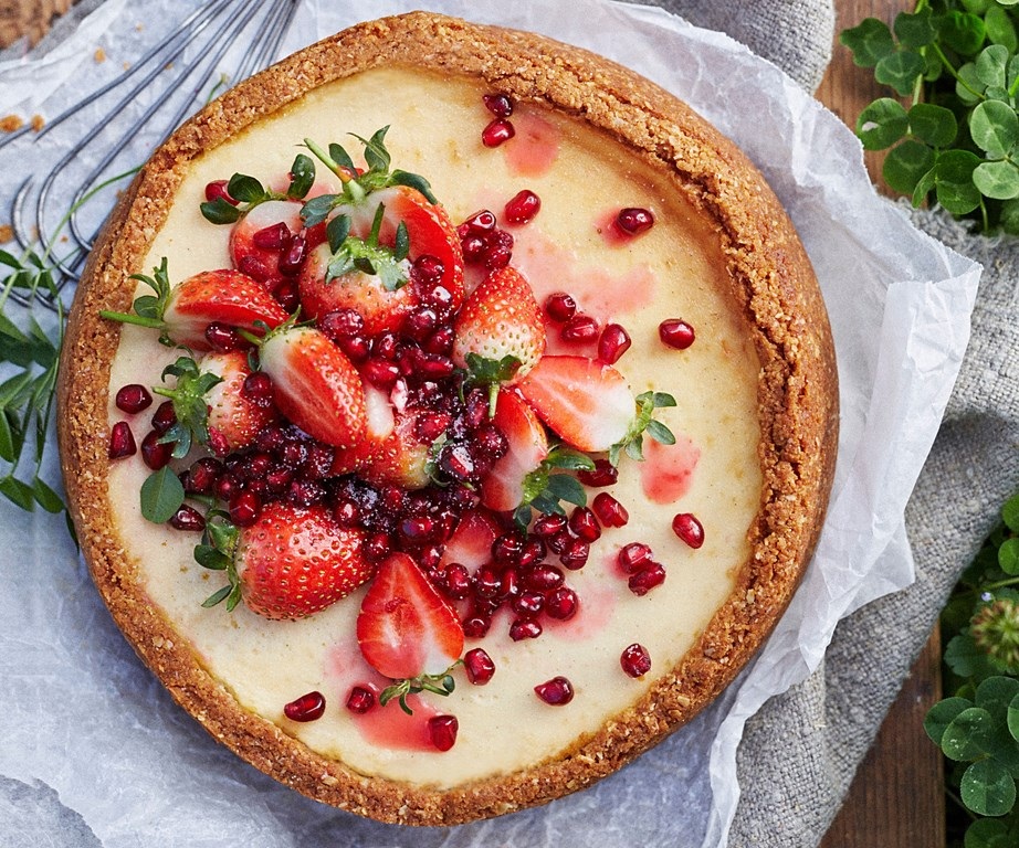 """Nothing beats biting into a bright burst of **pomegranate** seeds. We love them atop this [baked labne cheesecake](https://www.womensweeklyfood.com.au/recipes/labne-cheesecake-recipe-31029