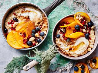 Three-grain maple syrup porridge