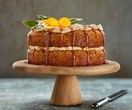Easter carrot cake with spiced buttercream & caramel sauce