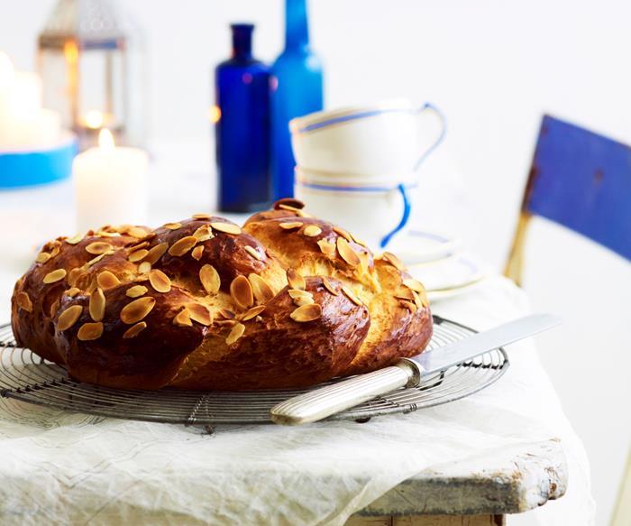 Tsoureki (traditional Greek Easter bread)