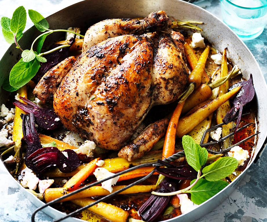 "With a tart lemony crust, our**[roast sumac chicken with baby vegetables](https://www.womensweeklyfood.com.au/recipes/roasted-sumac-chicken-recipe-31091|target=""_blank"")** is perfect for weekend feasts."