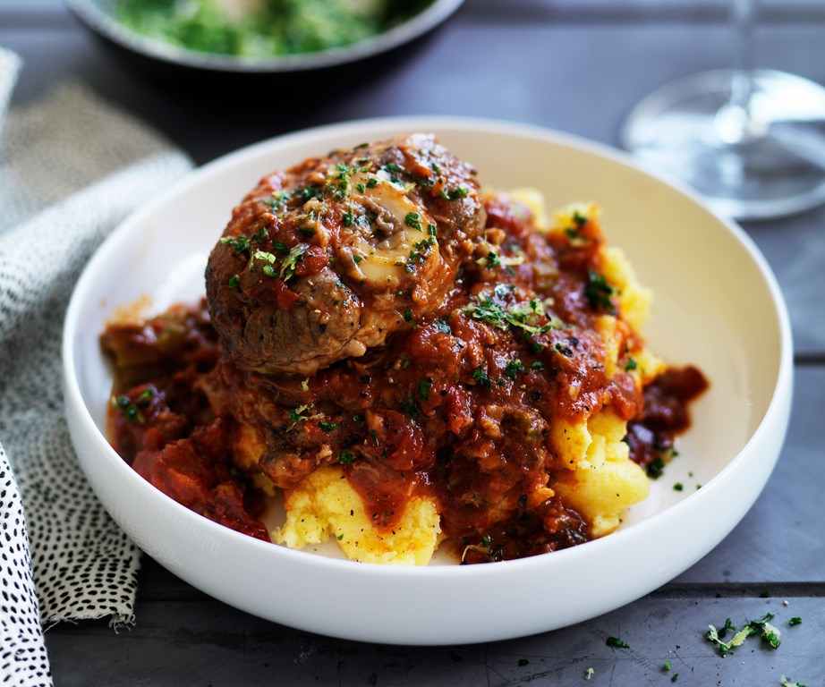 "Technically a veal dish, this [slow cooker osso bucco](https://www.womensweeklyfood.com.au/recipes/osso-buco-recipe-11797|target=""_blank"") takes all the guess work out of making this classic Italian stew. Topped with a zesty gremolata, this dish is perfect served atop fluffy polenta."
