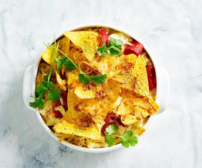 """**[Mexican mac and cheese](https://www.womensweeklyfood.com.au/recipes/mexican-mac-and-cheese-recipe-31113