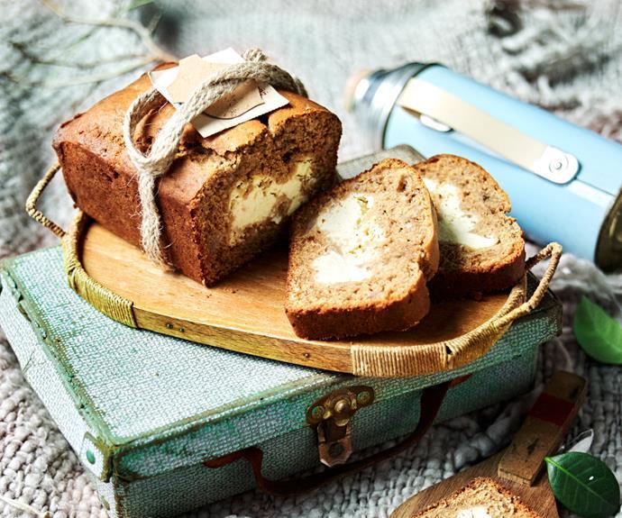 "**[Cream cheese-filled banana bread](https://www.womensweeklyfood.com.au/recipes/cream-cheese-banana-bread-recipe-31118|target=""_blank"")**  Forget cream cheese frosting - this banana bread has tangy delicious cream cheese all through it!"
