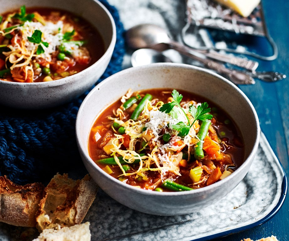The king of winter soups, this [slow-cooker vegetable minestrone](https://www.womensweeklyfood.com.au/recipes/slow-cooker-vegetable-mainestrone-recipe-10836) is simple to make, comforting, hearty and delicious, especially when the weather is a little cooler.