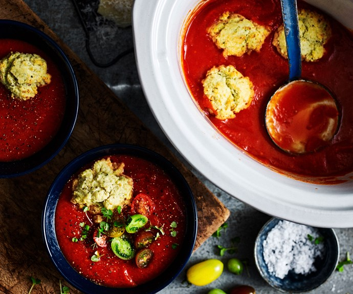 slow-cooker chickpea and tomato soup