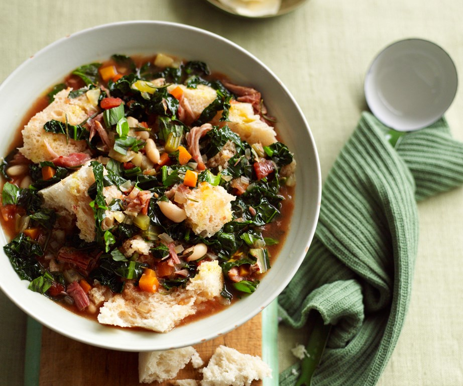 Traditionally, this Tuscan [ribollita](https://www.womensweeklyfood.com.au/recipes/slow-cooker-ribollita-recipe-6158) recipe was a way to use up leftover minestrone by adding some extra ingredients for a fully-loaded hearty dinner.
