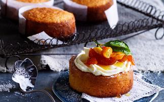 mandarin almond cakes with candied cumquats