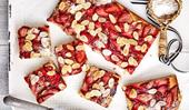 Strawberry & almond friand slice
