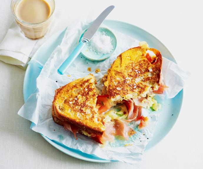 "More than your average cheese toastie, the iconic French [croque monsieur](https://www.womensweeklyfood.com.au/recipes/croque-monsieur-recipe-13183|target=""_blank"") is made with gruyère and prosciutto and a hint of mustard for an next-level feed."