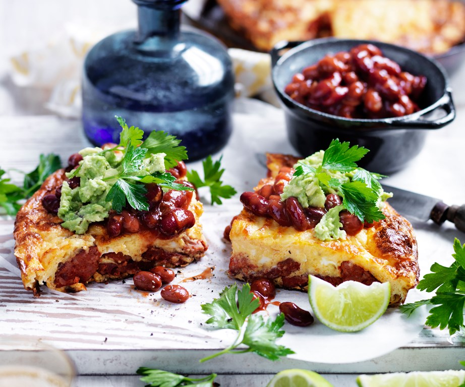 "Why not start your day (or end it) with our **[chorizo and tomato omelette with chilli beans](https://www.womensweeklyfood.com.au/recipes/chorizo-and-tomato-omelette-with-chilli-beans-8968|target=""_blank"")**?"
