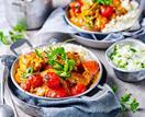 Chicken tikka curry with cauliflower rice