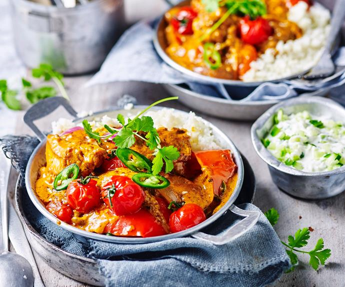 "**[Chicken tikka curry with cauliflower rice](https://www.womensweeklyfood.com.au/recipes/chicken-tikka-curry-with-paleo-cauliflower-rice-1680|target=""_blank"")**  Put a healthy twist on this classic Indian curry by using a Greek yoghurt base, and [low-carb](https://www.womensweeklyfood.com.au/tags/low-carb