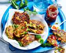 Vegetable and chickpea fritters