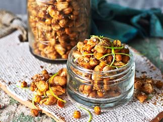 Roasted chickpeas & beans