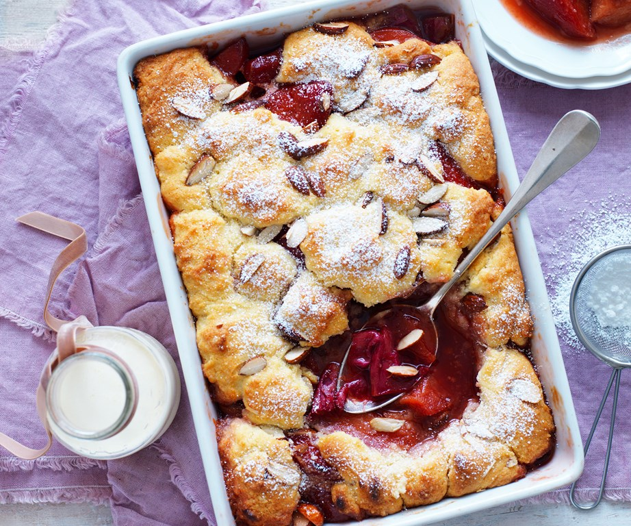 """Break out the ice-cream, this [rhubarb and quince cobbler](https://www.womensweeklyfood.com.au/recipes/rhubarb-and-quince-cobbler-15571