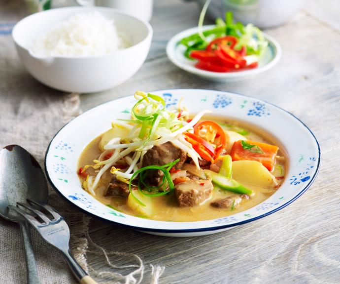 """This [Thai-style beef curry](https://www.womensweeklyfood.com.au/recipes/thai-style-beef-curry-14689