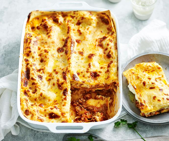 "**[Classic beef lasagne](https://www.womensweeklyfood.com.au/recipes/lasagne-recipe-15254|target=""_blank"")**  There is a lot to love about a classic lasagne. Served with a crisp [salad](https://www.womensweeklyfood.com.au/recipes/green-salad-11427