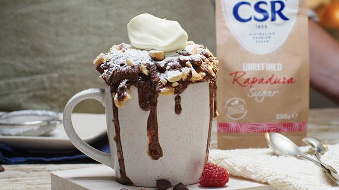 Chocolate hazelnut pudding mug
