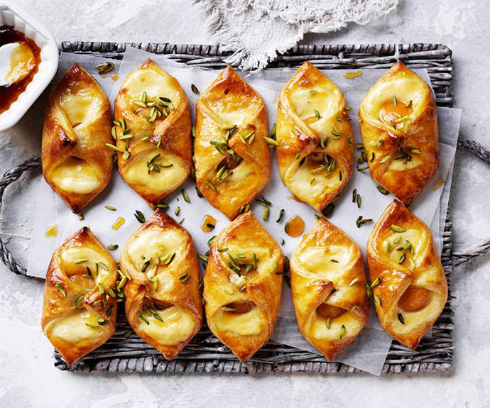 """**[Apricot Danish pastries](https://www.womensweeklyfood.com.au/recipes/apricot-danish-pastries-15160