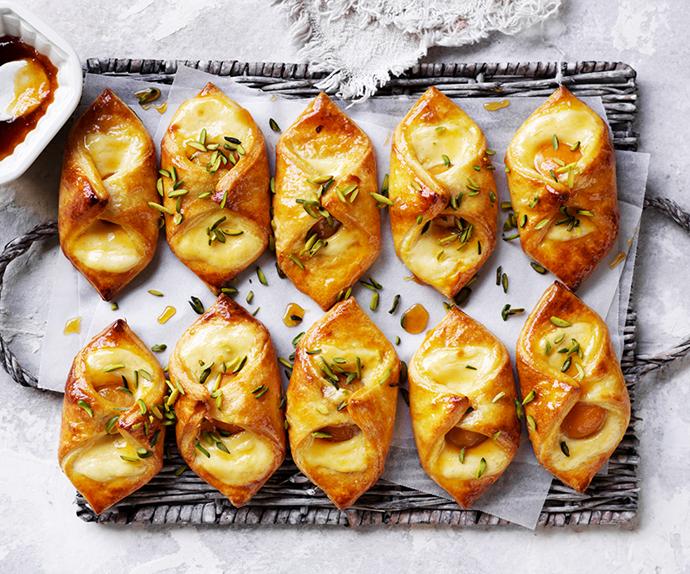 Apricot Danish pastries