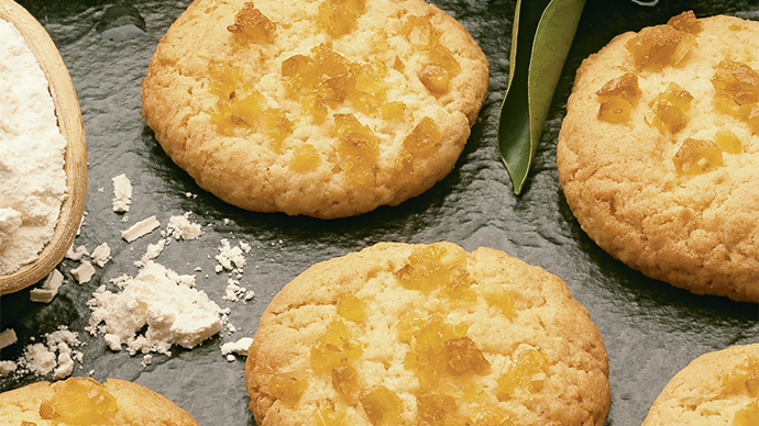 Orange coconut biscuits