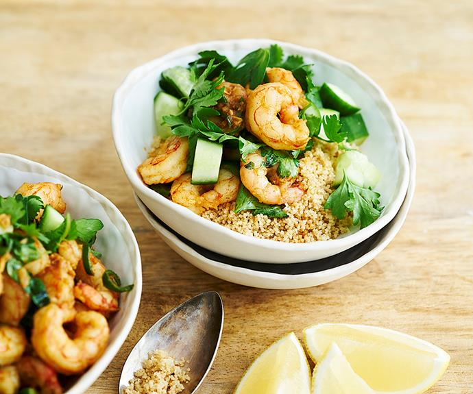 """**[Fried prawns with preserved lemon and green chillies](https://www.womensweeklyfood.com.au/recipes/fried-prawns-with-preserved-lemon-and-green-chillies-31208