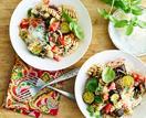 Roast vegetable spelt pasta