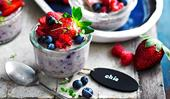 Berry and coconut chia pudding