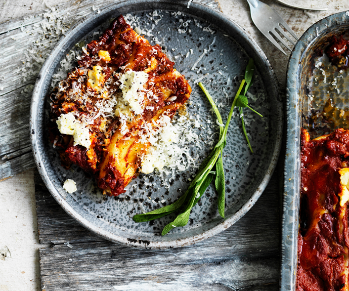 """Feed the family with this delicious and nourishing [spinach, cheese and potato cannelloni](https://www.womensweeklyfood.com.au/recipes/spinach-cheese-and-potato-cannelloni-29446