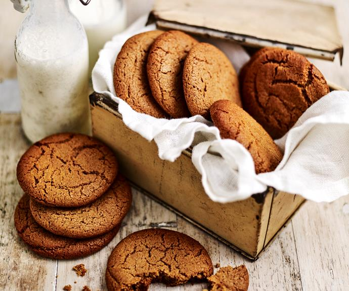 """These [gingernut cookies](https://www.womensweeklyfood.com.au/recipes/gingernuts-8328