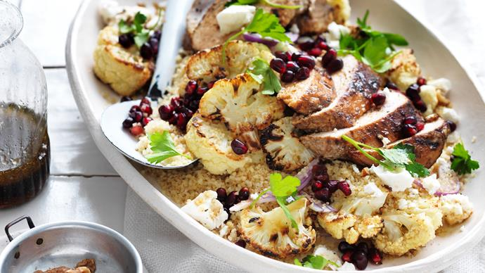 CHICKEN, BURGHUL & POMEGRANATE SALAD