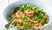 Tom yum fried rice with prawns